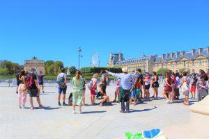 Team buildings aux Tuileries
